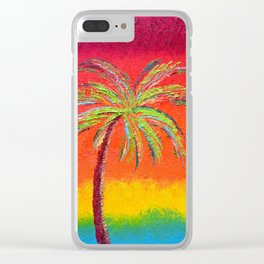 Sunset At Cabo Painting Clear iPhone Case