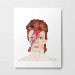 Watercolor David Bowie/ Ziggy Stardust Metal Print