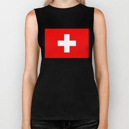 Flag of Switzerland 2x3 scale Biker Tank