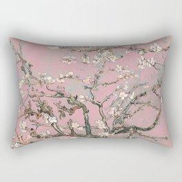 Almond Blossom - Vincent Van Gogh (pink pastel) Rectangular Pillow