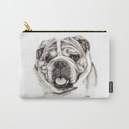 English Bulldog drawing Carry-All Pouch