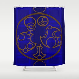 Dr. Who Inspired Art-Piece Shower Curtain