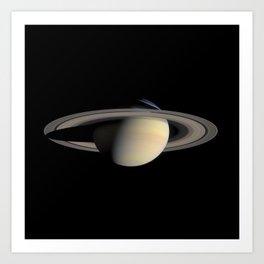 Saturn by Cassini Spacecraft Art Print