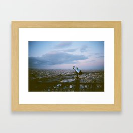 From the Eiffel Tower at night Framed Art Print