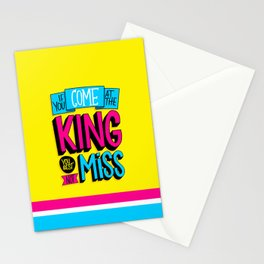 Come At the King Stationery Cards