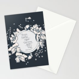 Ye werena the first lass I kissed. But I swear you'll be the last. Jamie Fraser Stationery Cards