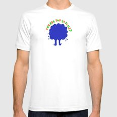 Why are you so blue? Mens Fitted Tee White MEDIUM
