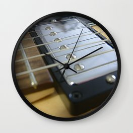 Guitar Close Up Yellow Wall Clock