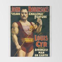 Louis Cyr, Strongest Man on Earth Throw Blanket
