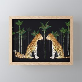 Jaguar in wild Framed Mini Art Print
