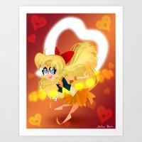 sailor venus Art Prints featuring Sailor Venus by The Art of Eileen Marie