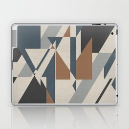 Teepee in Cinnamon Spice, Ivory, Charcoal Grey and Blue Laptop & iPad Skin