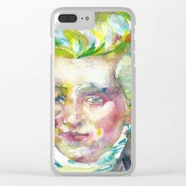 MAXIMILIEN ROBESPIERRE - watercolor portrait Clear iPhone Case