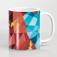 dc comics Mugs featuring DC Comics Flash by Eric Dufresne