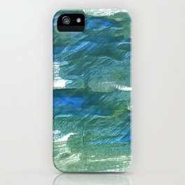 Wintergreen Dream abstract watercolor iPhone Case