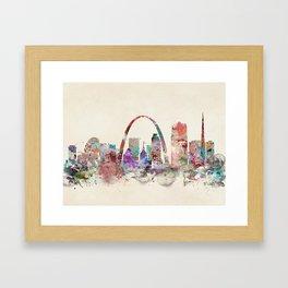 St.louis missouri skyline Framed Art Print