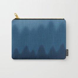Wavy Digital Denim Blue Jean Pattern Carry-All Pouch