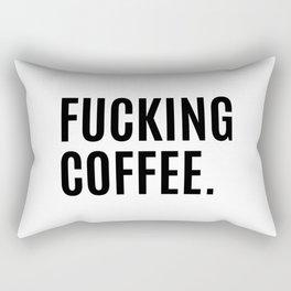 FUCKING COFFEE Rectangular Pillow
