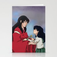 inuyasha Stationery Cards featuring InuKag by nico_lle