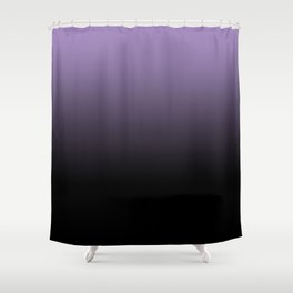 Purple Black Blend Design Shower Curtain