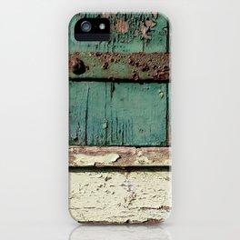 Old Wood an Rusty Grunge Barn Door iPhone Case