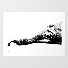 A Smiling Sloth Art Print