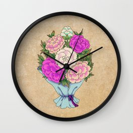 Minhwa: Peony Bouquet B Type Wall Clock