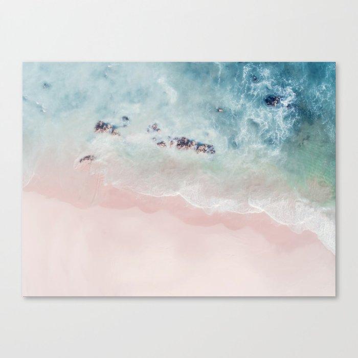 Ocean Pink Blush Canvas Print