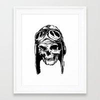 kindle Framed Art Prints featuring 102 by ALLSKULL.NET