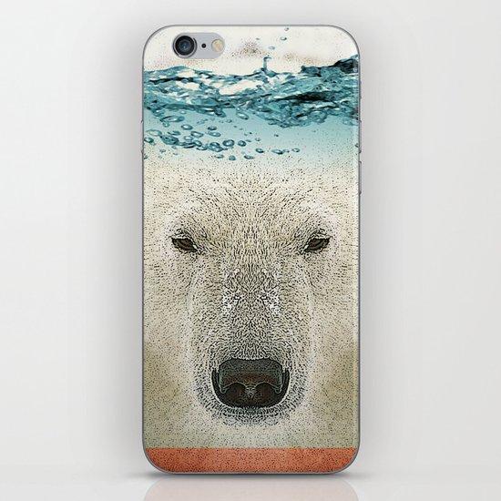 bear line iPhone & iPod Skin