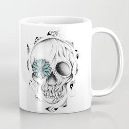Poetic Wooden Skull Coffee Mug