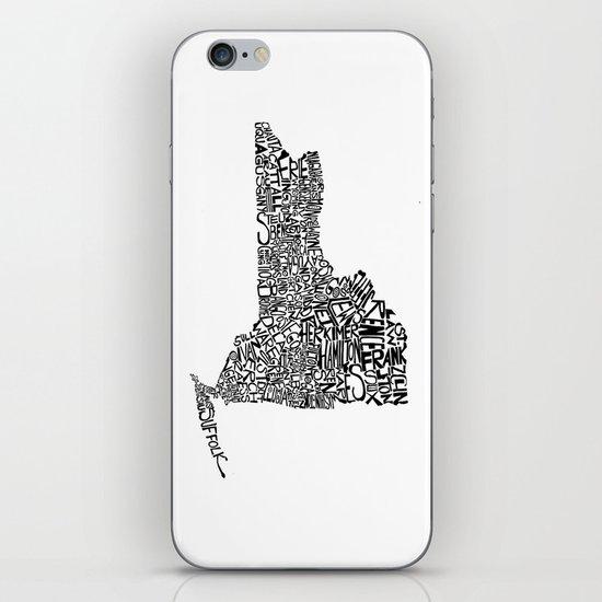 Typographic New York iPhone & iPod Skin