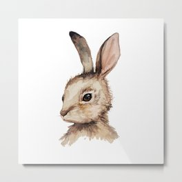 Pensive Easter Bunny  Metal Print