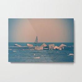 Sail Barcelona (Pink) Metal Print
