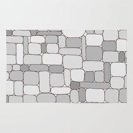 Stone Wall #4 - Grays Rug