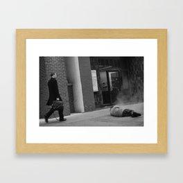 walking by Framed Art Print