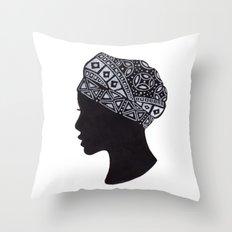The Exotic of Turban Woman Throw Pillow