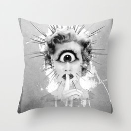 Shhh… Redux Throw Pillow