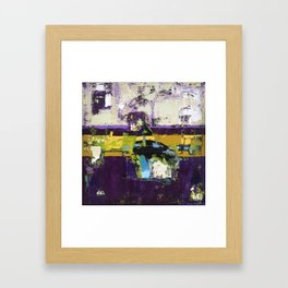 Controversy Prince Deep Purple Abstract Painting Modern Art Framed Art Print