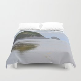 Illustrated Haystack Rock Duvet Cover