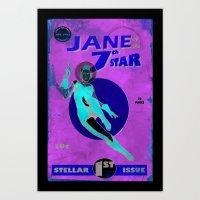 Jane of the 7th Star Art Print