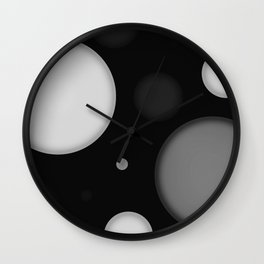 Black Space Wall Clock