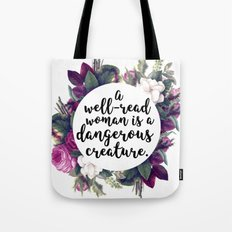 A well read woman Tote Bag