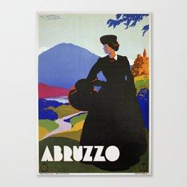 Abruzzo Italian travel Lady on a walk Canvas Print