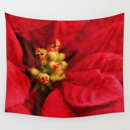 Christmas Flower Wall Tapestry