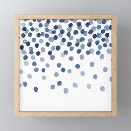 Blue Confetti Falling From the Sky Framed Mini Art Print