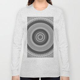 Bohemian Silver Mandala Design Long Sleeve T-shirt
