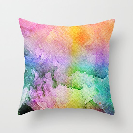 Vitamin Orchard Throw Pillow