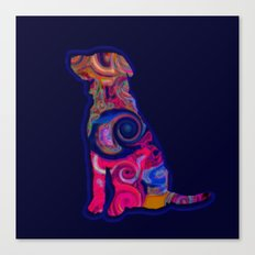 Psychedelic Dog Canvas Print