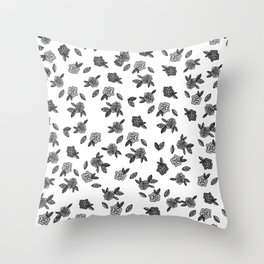 Secret Garden in Gray Throw Pillow
